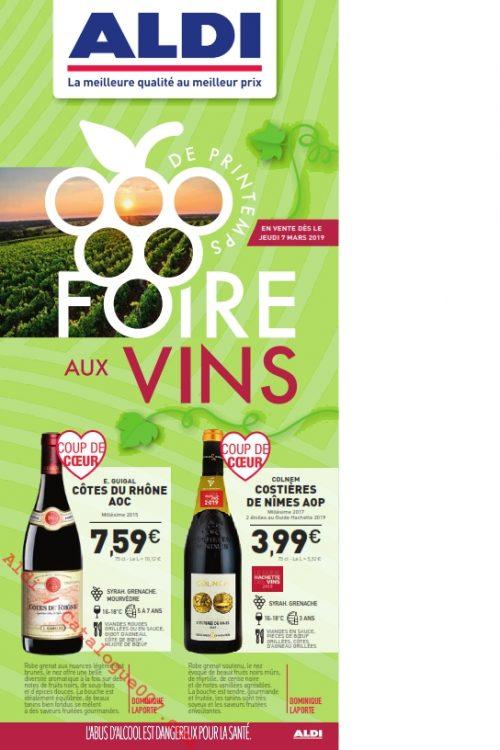 Aldi Foire aux vins de Printemps 7 mars 2019