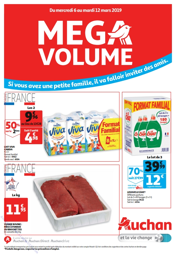 Catalogue Gros Conditionnement Auchan du 6 au 12 mars 2019