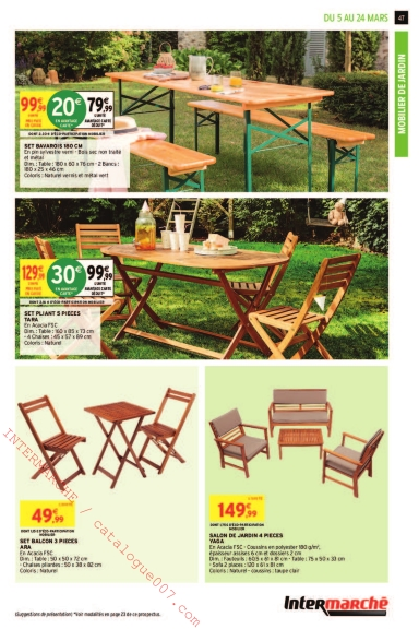 Intermarché arrivages jardin printemps 2019 – Catalogue007.com