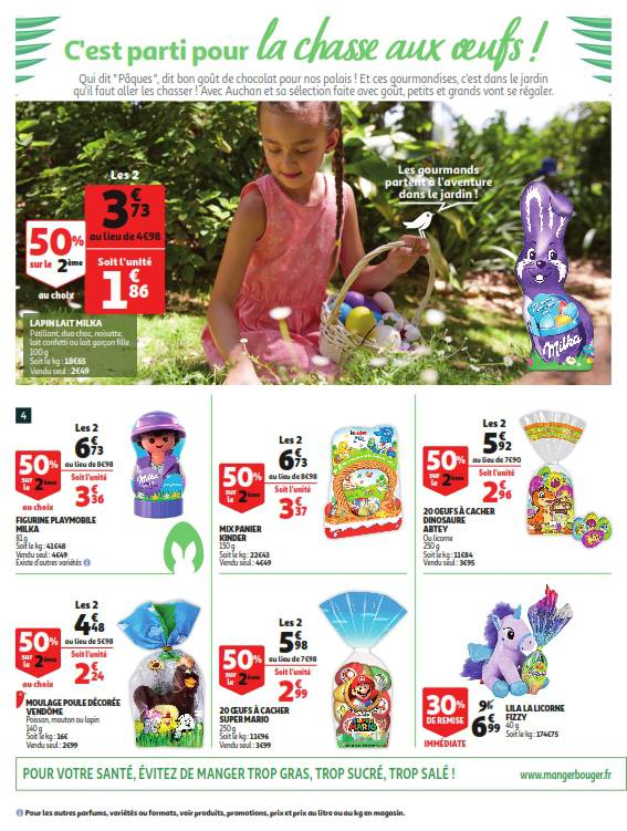 Auchan bons plans du 3 au 9 avril 2019