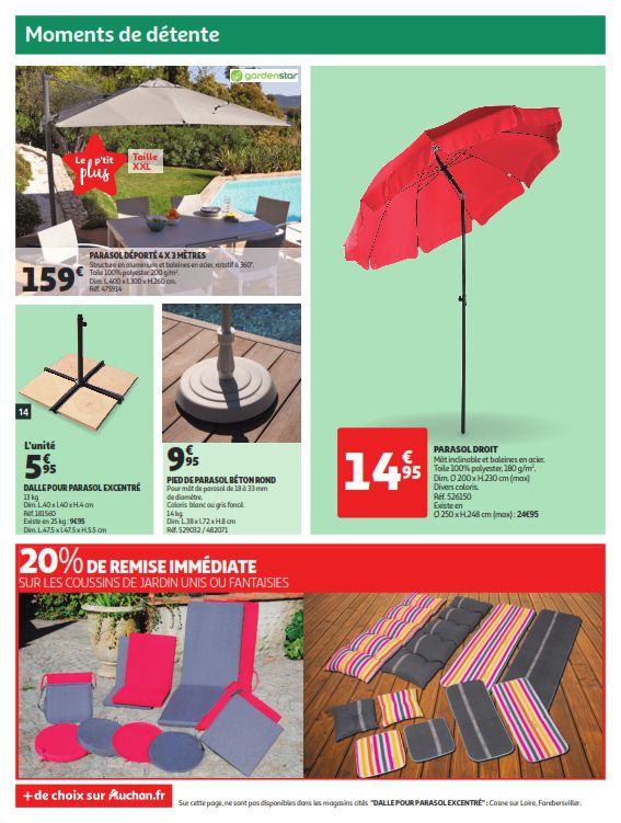 Auchan offres jardin du 3 au 9 avril 2019 – Catalogue007.com