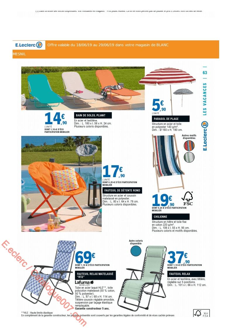 Eleclerc Catalogue Promos Du 18 Au 29 Juin 2019