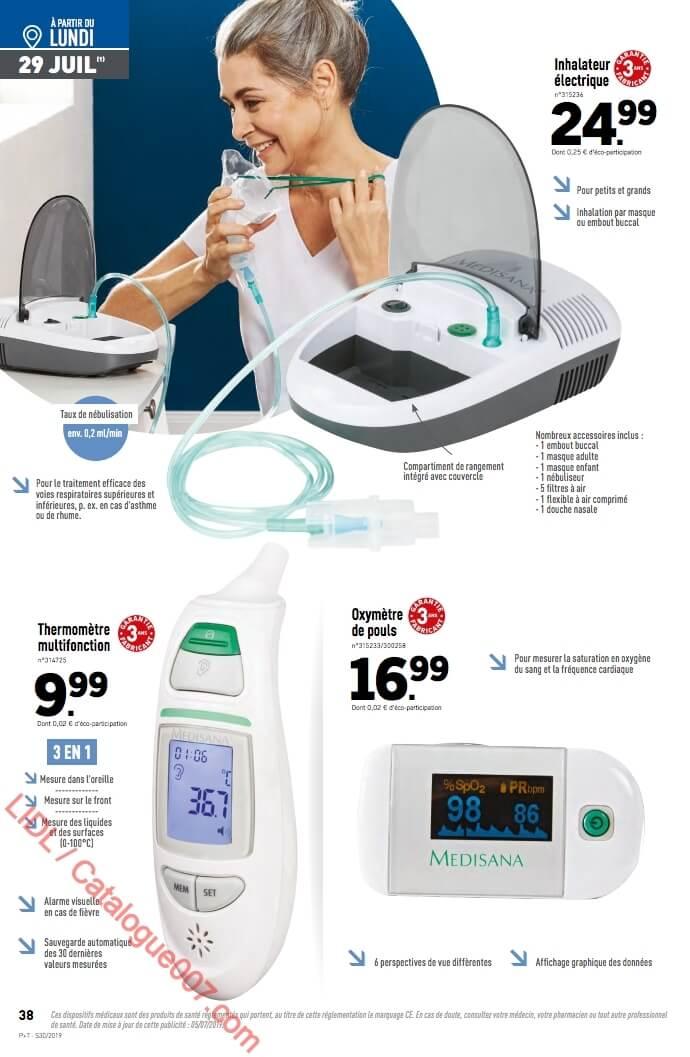 Lidl inhalateur électrique Medisana