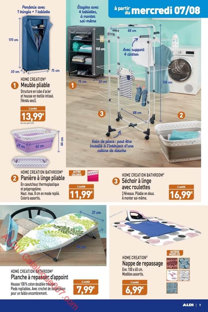 séchoir à linge avec roulettes Home Creation Bathroom