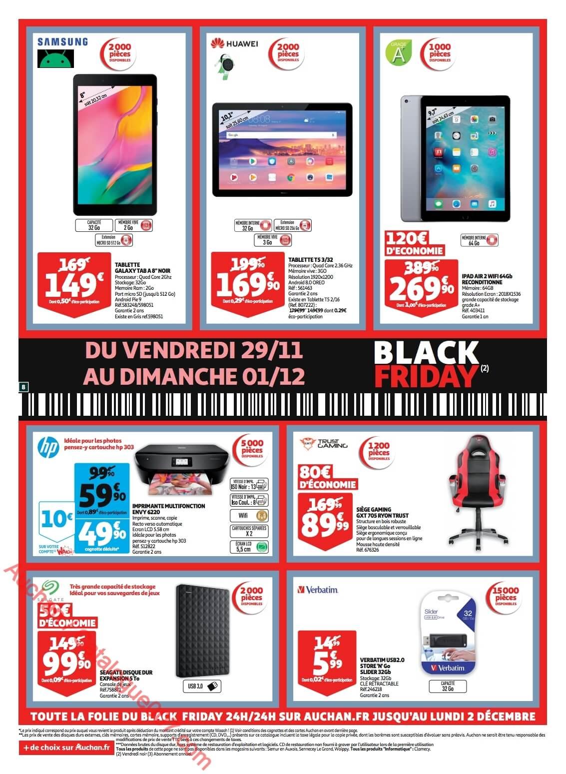 Auchan Black Friday Du 29 Novembre Au 1er Décembre 2019