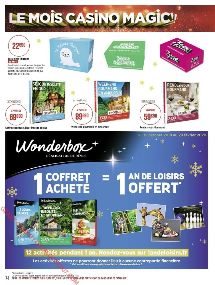 Géant Casino promos Noël du 9 au 22 décembre 2019